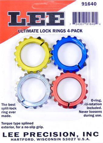 LEE - Zestaw pierścieni zaciskowych, 4szt. kolorowe