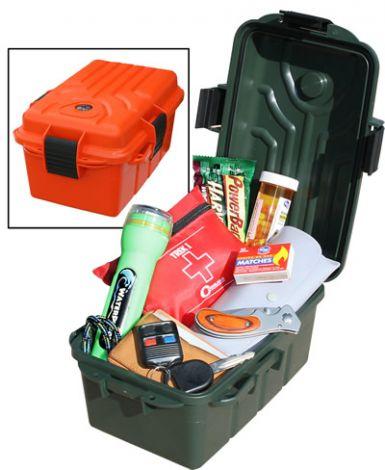 MTM S1074- Duże pudełko przetrwania z kompasem pomarańczowe